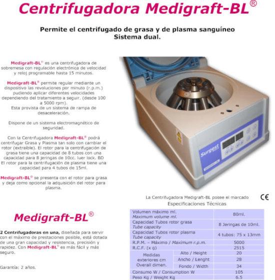 Centrifugadora Medigraft
