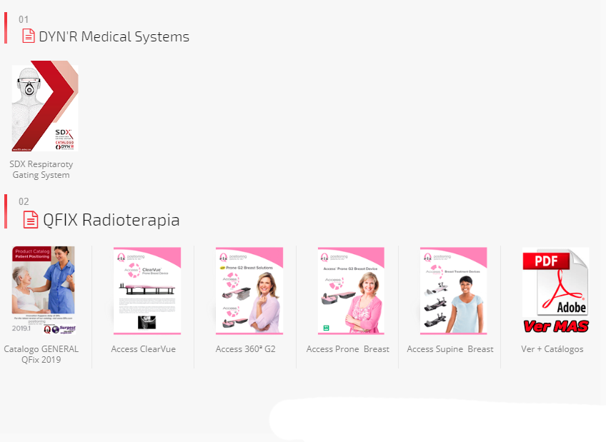 Catalogos de productos para RADIOTERAPIA distribuidos por Surgest Medical