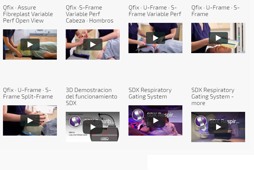 Videos de productos para RADIOTERAPIA distribuidos por Surgest Medical