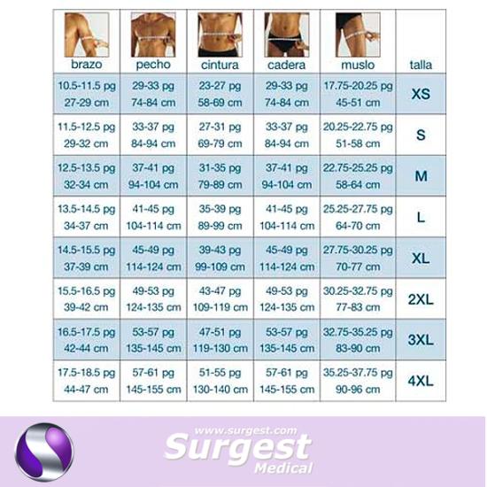 Faja para Hombre cuerpo completo Surgest Medical